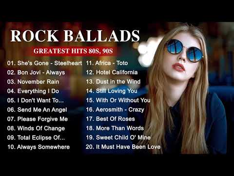 Best Rock Music Playlist 2020 – Greatest Rock Ballads of The 80's and 90's