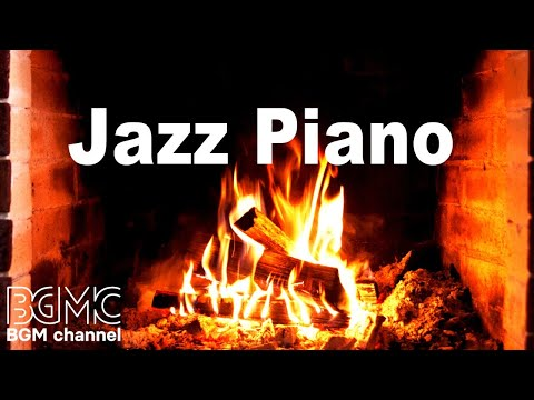 Relaxing Jazz Piano With Fireplace – Slow Cafe Jazz Piano For Sleep, Study