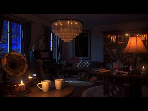 Rainy Jazz with Relaxing Jazz Music – Coffee Time Ambience Rain Sounds for Sleep, Study, Focus