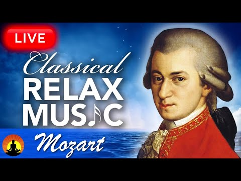 🔴 Music for Stress Relief 247, Relaxing Classical Music, Instrumental Music, Mozart, Study, Sleep