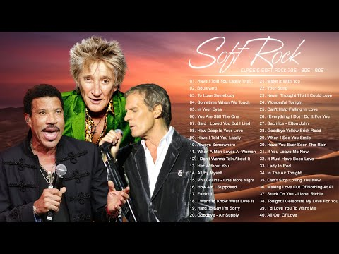Phil Colins, Air Supply, Bee Gees, Lobo, Rod Stewart, Chicago – Soft Rock Songs Of The 70s 80s 90s